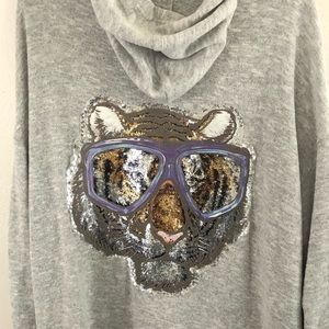 Easel oversized hoodie size medium tiger & glasses